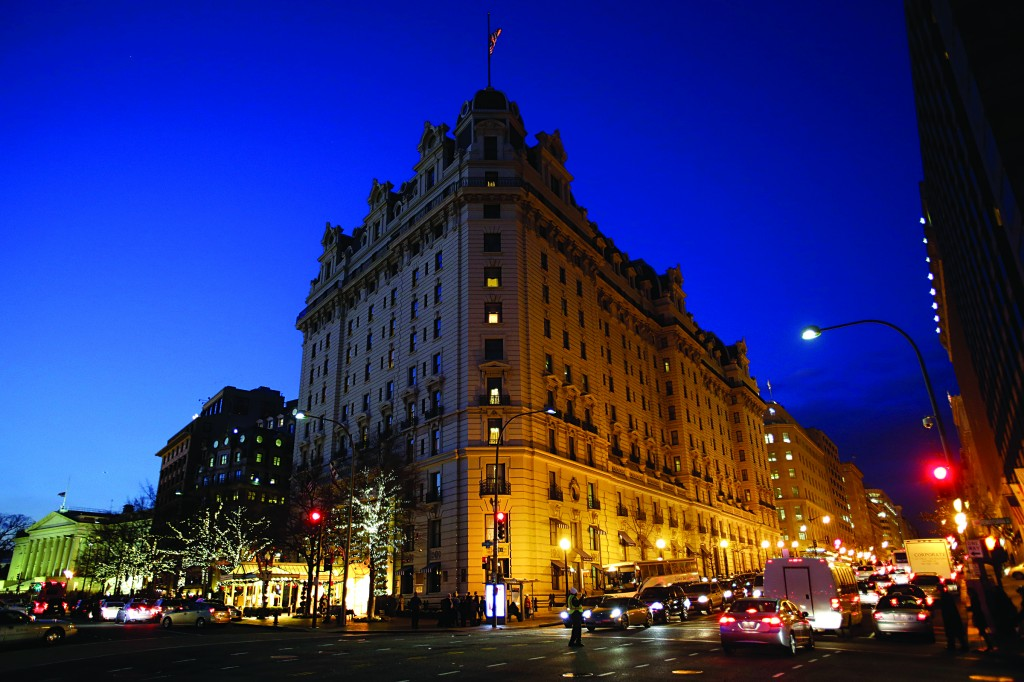 The Willard Hotel About A Block From White House Is Seen At Dusk
