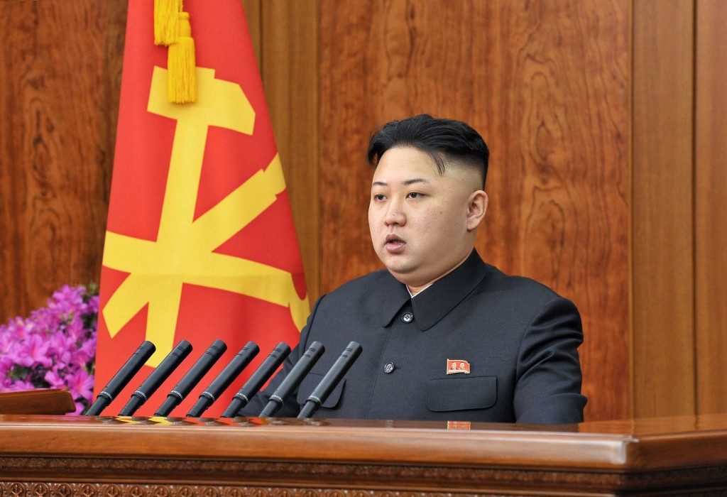 North Korean leader Kim Jong-un delivers a New Year address in Pyongyang in this picture released by the North's official KCNA news agency. (REUTERS/KCNA)