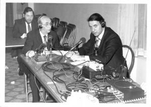 L-R: Mr. Chaim Korn; Rabbi Friedenson and Mr. Menachem Lubinsky.