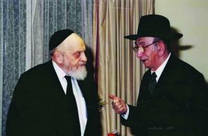 L-R: Rabbi Boruch Borchardt with Rabbi Friedenson.