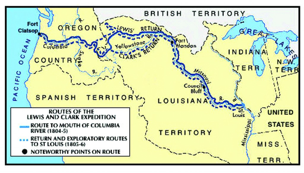 an overview of the lewis and clark expedition across the us between 1804 and 1805 Lewis and clark expedition timeline timeline description: meriwether lewis (born august 18, 1774) and william clark (born august 1, 1770) under the supervision of president thomas jefferson, led a two and one-half year expedition across the western united states, exploring, drawing maps, and working to develop relationships with native american.