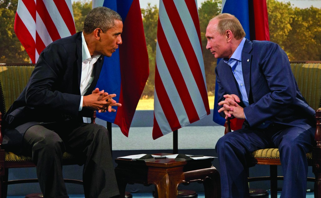 President Barack Obama meets with Russian President Vladimir Putin in Enniskillen, Northern Ireland, June 17, 2013. (AP Photo/Evan Vucci, File)