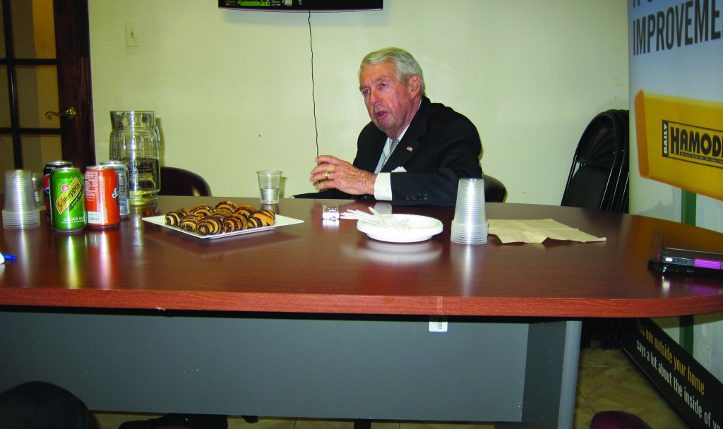 Brooklyn District Attorney Charles Hynes during an interview at Hamodia on Wednesday.
