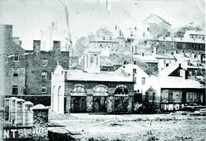 Undated photo of John Brown's Fort located at the entrance of the Armory Grounds at Harpers Ferry, W. Va. An abolitionist who hoped to start a general slave revolt, Brown and his followers used the fire engine and guard house as their fort when they raided the U.S. armory and arsenal on Oct. 16, 1859. Brown was captured by Colonel Robert E. Lee, put on trial for treason, sentenced to death, and executed in Dec. 1859. (AP Photo)