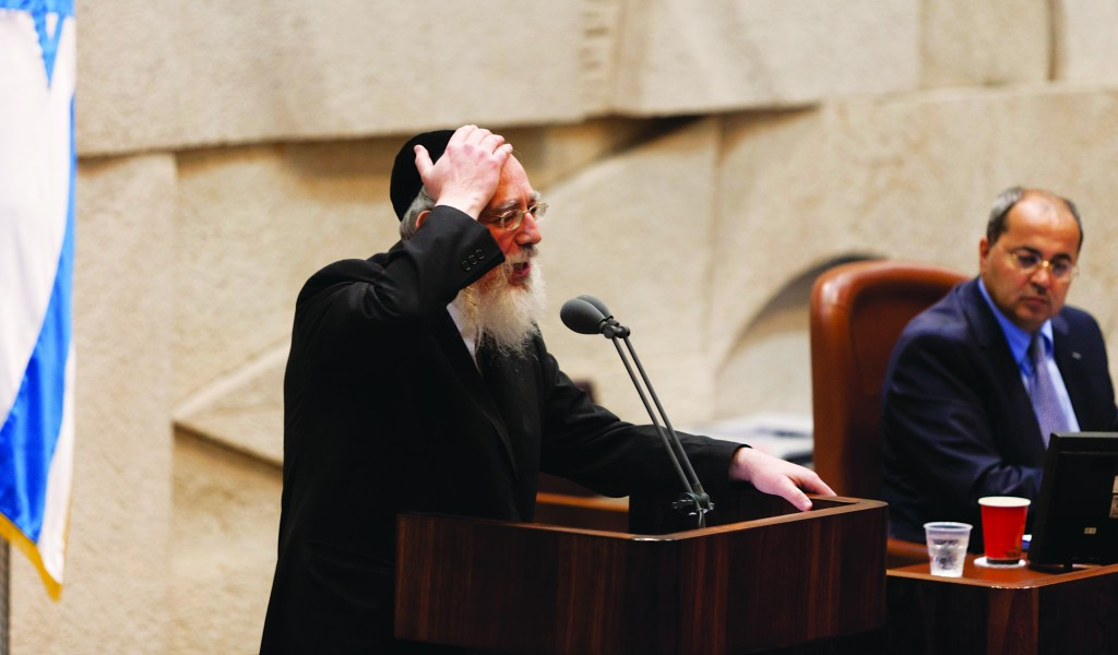 Rabbi Yisrael Eichler of United Torah Judaism. (Flash90)