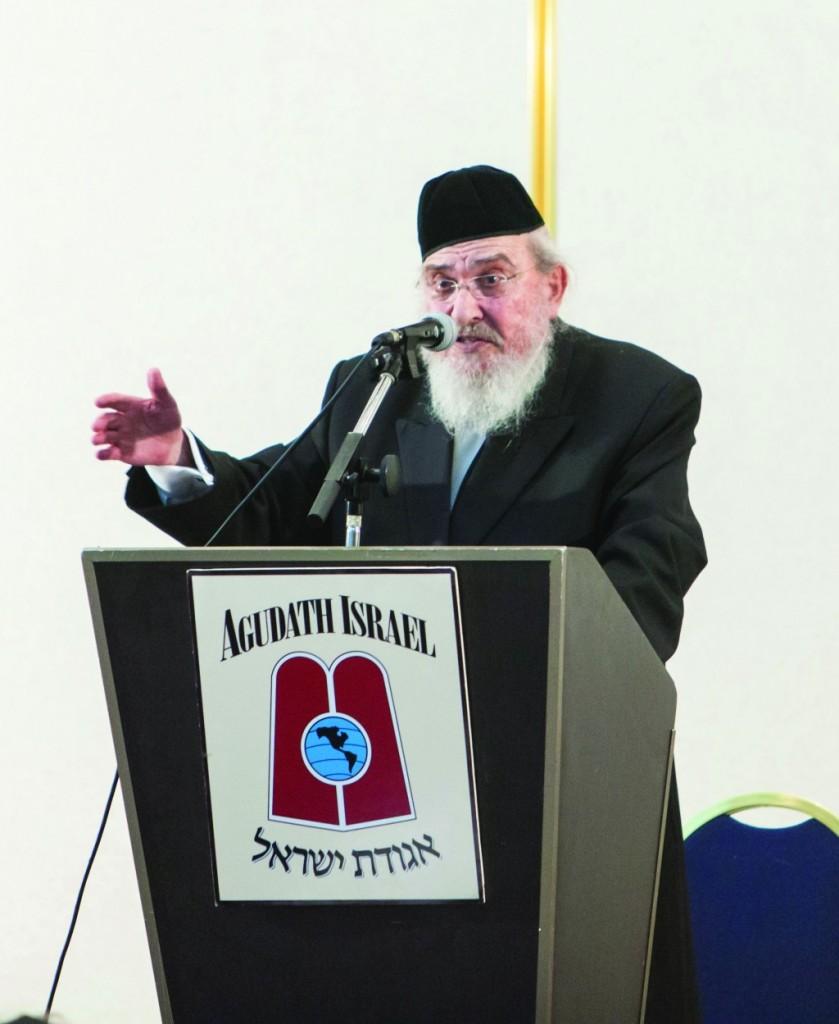 The renowned maggid shiur, Harav Baruch Mordechai Ezrachi, Rosh Yeshivas Ateres Yisroel, delivered an iyun shiur on day four of Agudas Yisroel's 14th Annual Yerushalayim Yarchei Kallah.