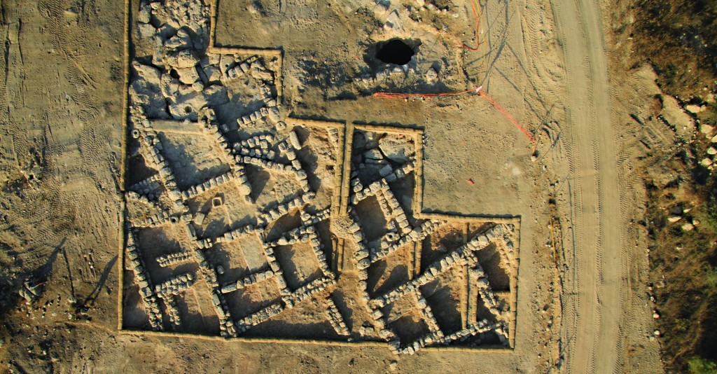 Aerial view of the 'Burma Road' archaeological site. (Skyview, courtesy of the Israel Antiquities Authority - Clara Amit, courtesy of the Israel Antiquities Authority)