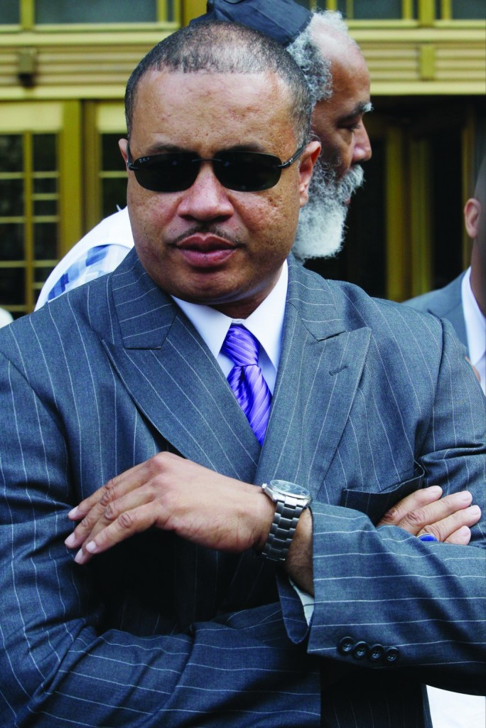 Eric Stevenson on Wednesday outside federal court in New York. (AP Photo/Frank Franklin II)