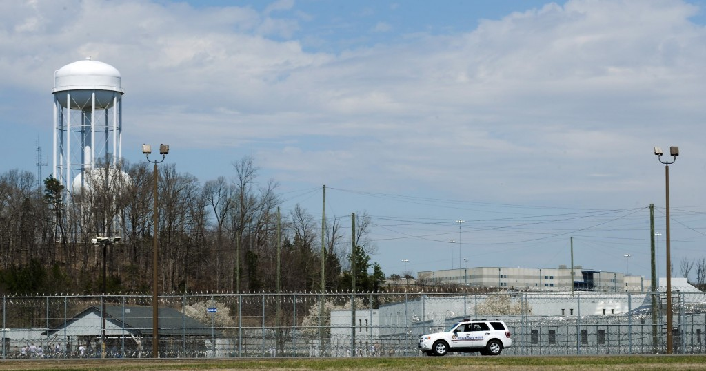 A prison vehicle sits outside the the Federal Bureau of Prisons Correctional Complex in Butner, North Carolina, where Jonathan Pollard is incarcerated.  (Sara D. Davis/Getty Images)