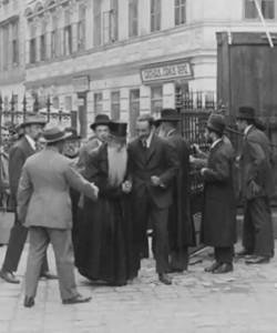 "Harav Avraham Zvi Perlmutter, zt""l, Av Beis Din, Warsaw, Agudas Yisrael representative in the Sejm (Polish Parliament)."