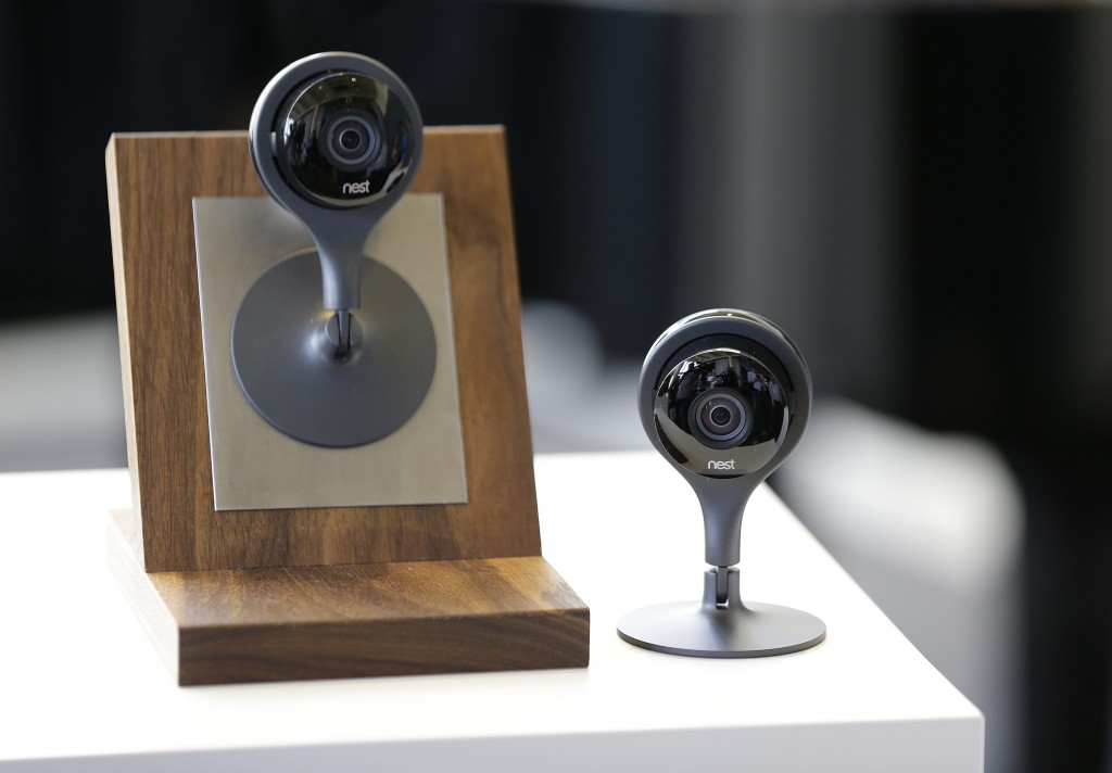 The latest Nest Cam surveillance-video camera. (AP Photo/Eric Risberg)