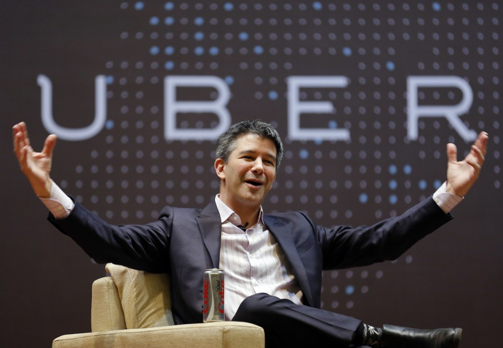 Uber CEO Travis Kalanick speaks to students during an interaction at the Indian Institute of Technology (IIT) campus in Mumbai, India, January 19, 2016. (Danish Siddiqui/Reuters)