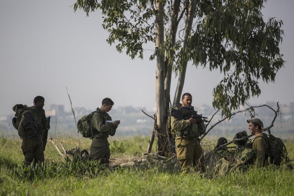 IDF soldiers on patrol. (Hadas Parush/Flash90)