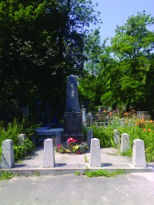 A Holocaust memorial in a part of the cemetery where some monuments still exist.