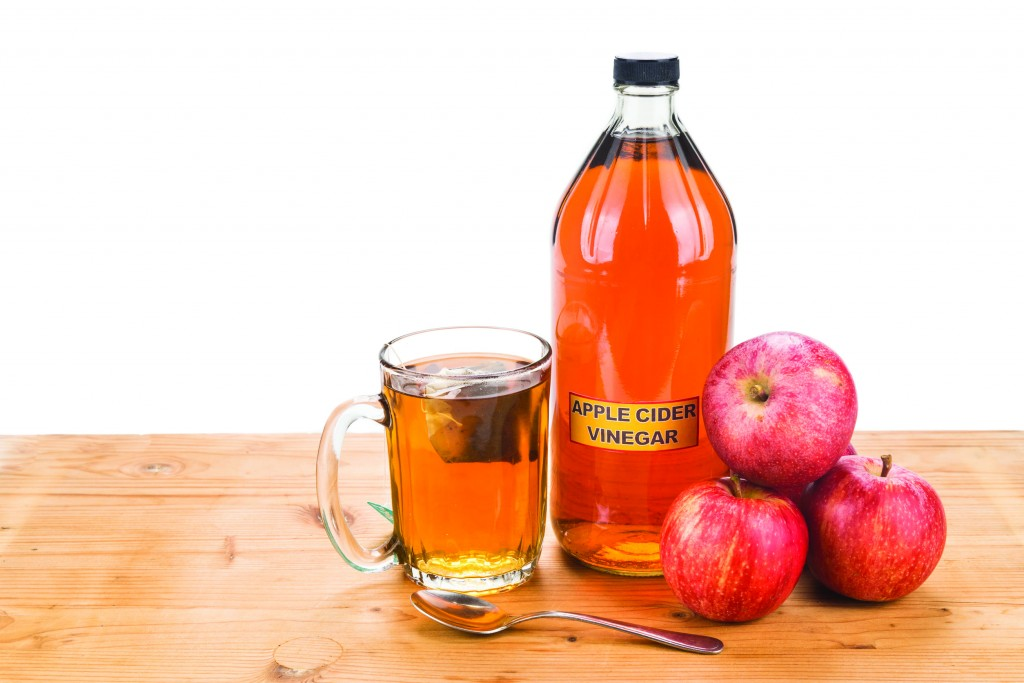 touting the virtues of apple cider vinegar