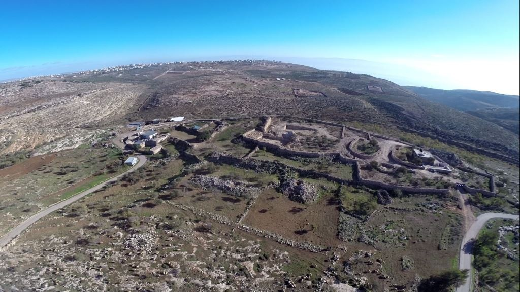The archeological site on which the Palestinians built illegally. (Regavim)