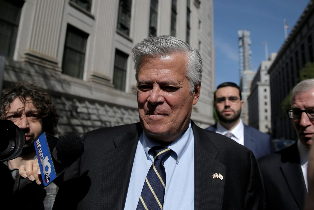Dean Skelos arrives at the courthouse in Manhattan on Thursday. (Reuters/Brendan McDermid)