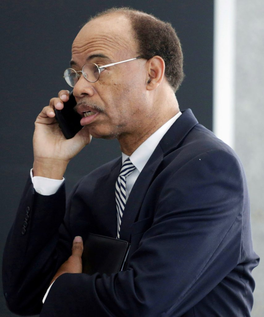 In this July 30, 2015 photo, Mel Reynolds leaves federal court in Chicago. (AP Photo/M. Spencer Green, File)