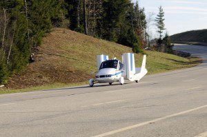 With its wings folded, the Transition can be driven at highway speeds. (Terrafugia)