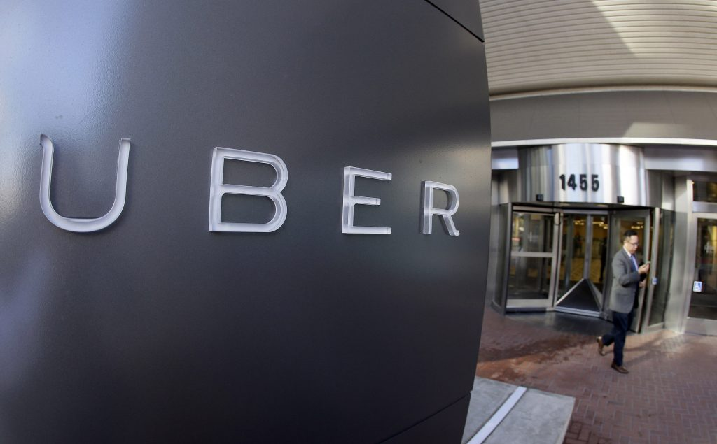 Uber headquarters in San Francisco. (AP Photo/Eric Risberg, File)