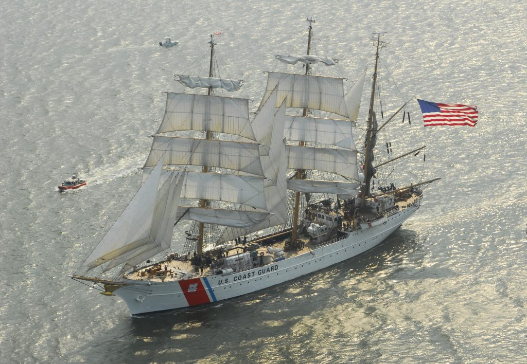 The Coast Guard Cutter Eagle, known as America's Tall Ship, in Charleston, S.C. (US Coast Guard Academy)