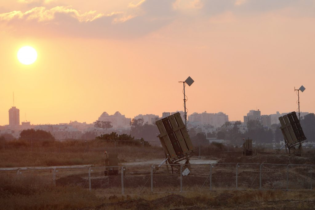 IDF stations Iron Dome battery in Tel Aviv Metropolitan Area