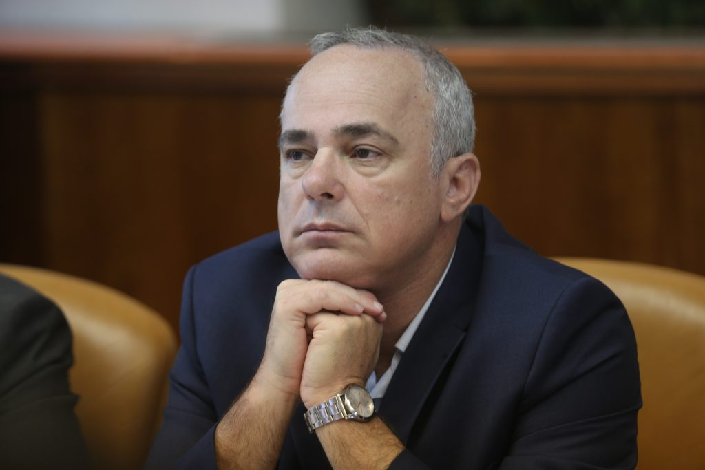 Israeli Minister of National Infrastructure Yuval Steinitz. (Alex Kolomoisky/POOL)