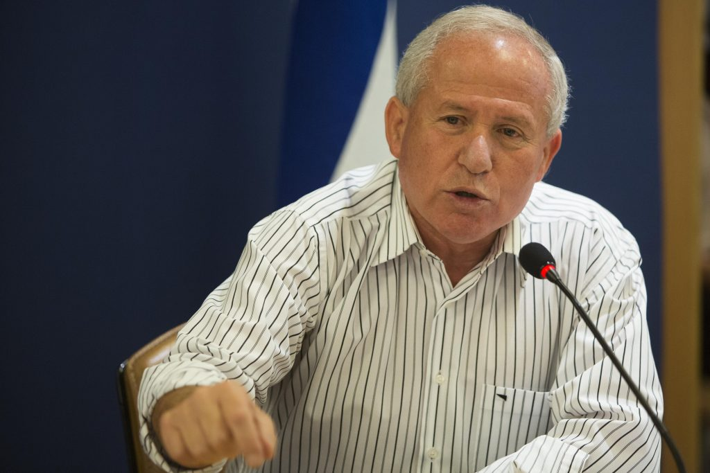 Avi Dichter, chairman of Israel's foreign affairs and defense committee and the former head of the Shin Bet intelligence agency. (Yonatan Sindel/ Flash90)