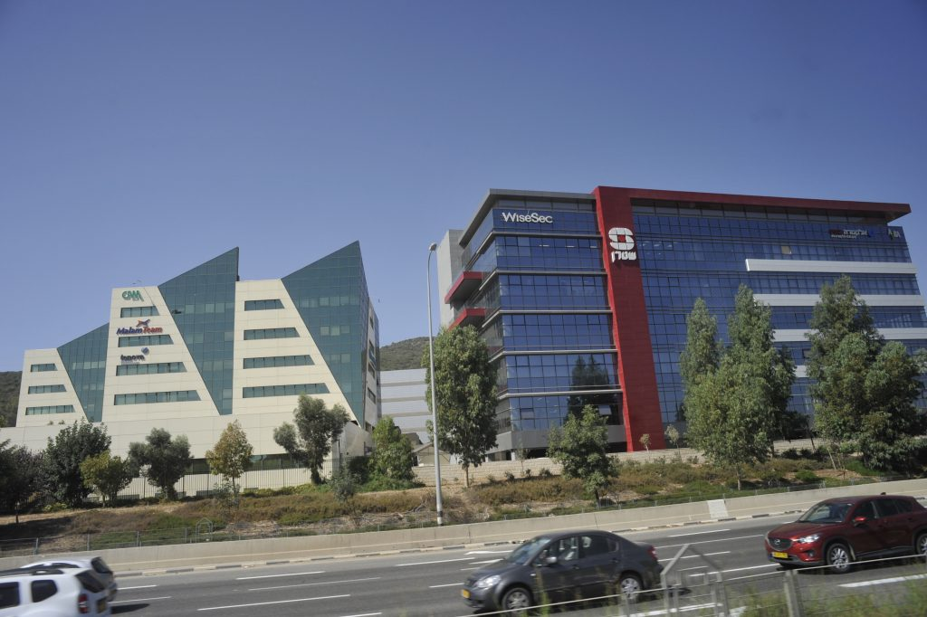 A view of the Wise Sec building at the Techno center in Haifa. (Serge Attal/Flash90)