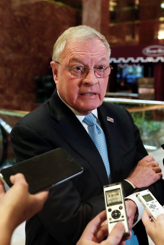 Ret. Lt. Gen. Keith Kellogg speaks to reporters at Trump Tower in New York last month. (AP Photo/Carolyn Kaster)