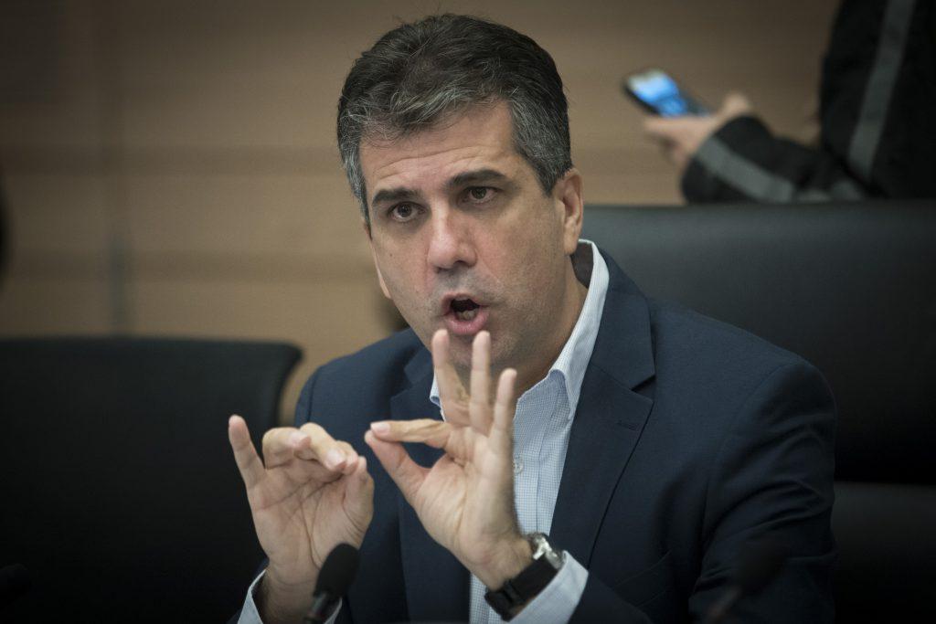 Eli Cohen, Head of the Knesset Reform Committee (Yonatan Sindel/Flash90)
