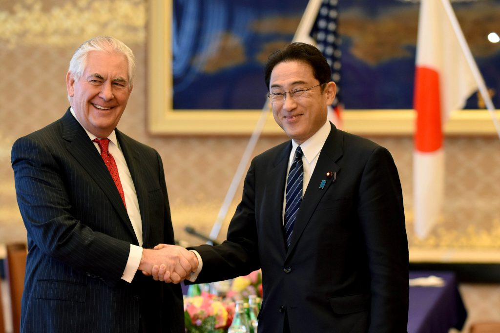 Tillerson starts key Asia tour facing United States  foreign budget cuts class=