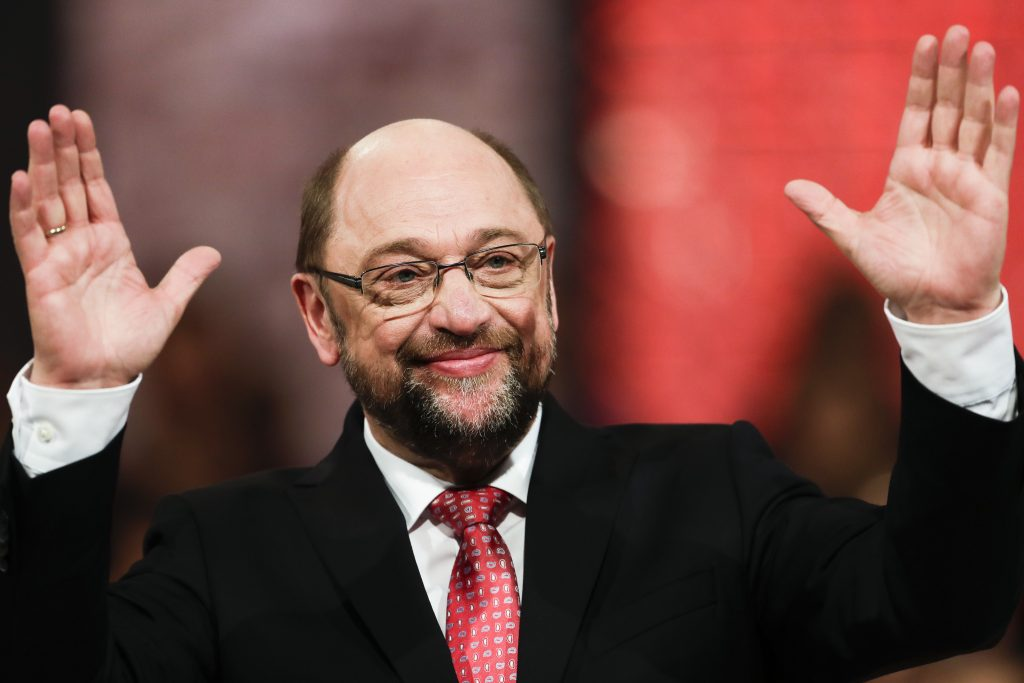 Designated Social Democratic Party, SPD, chairman and top candidate for the upcoming general elections Martin Schulz