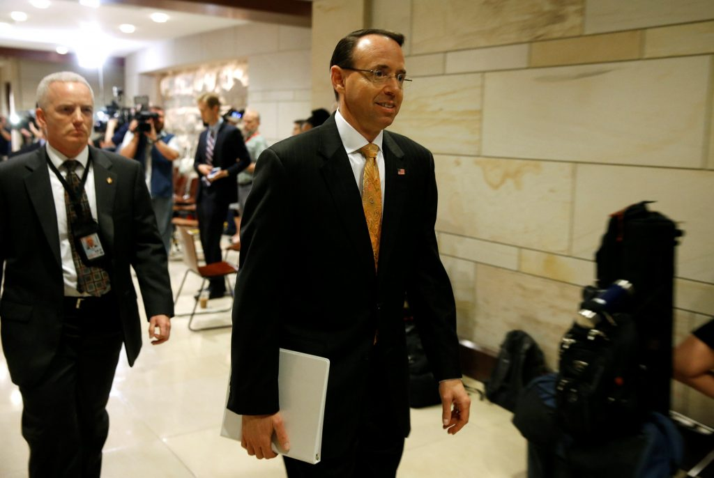 Rosenstein: I Knew Comey Would Be Fired