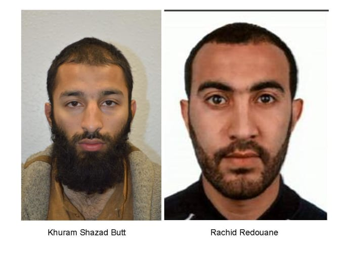 Two of the Three London Suspects Identified