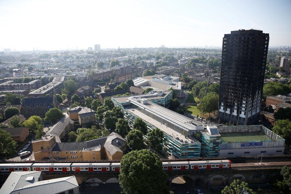 London fire: Tower block blaze aftermath in pictures