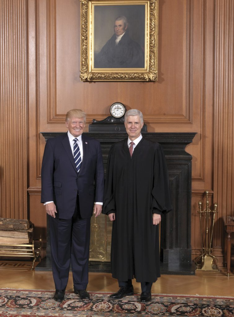 President Trump, Visits, U.S. Supreme Court, Justices, Weigh, Travel Ban