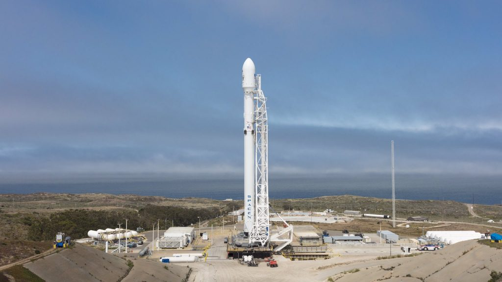 SpaceX, Launches, 10 Satellites, California Air Base