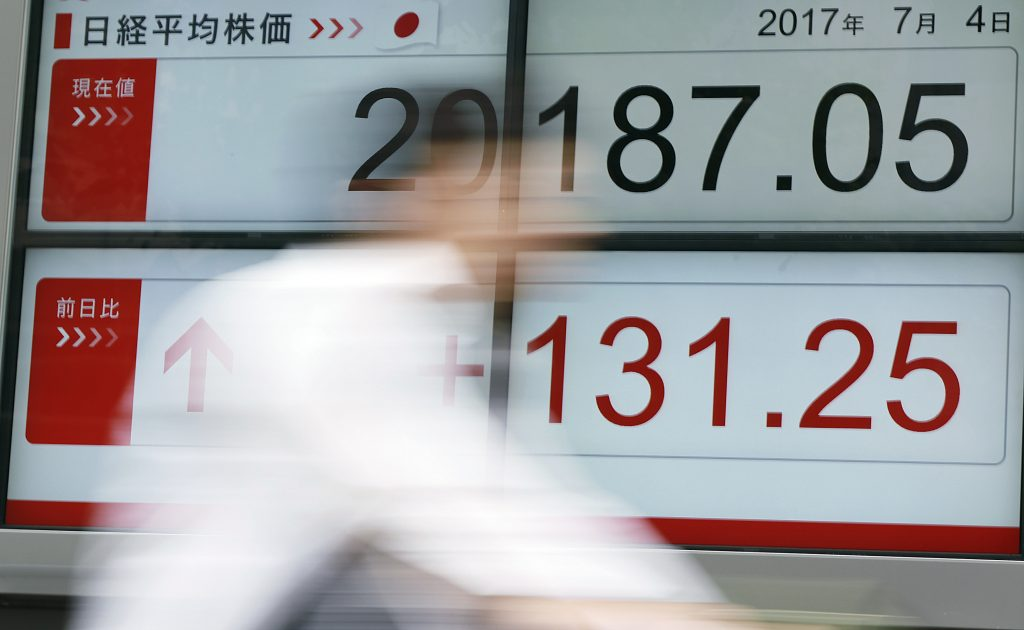 Asia shares drop on Fed minutes, oil edges up after big drop