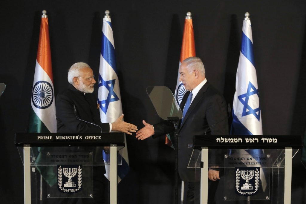 PM arrives in Israel to rousing reception