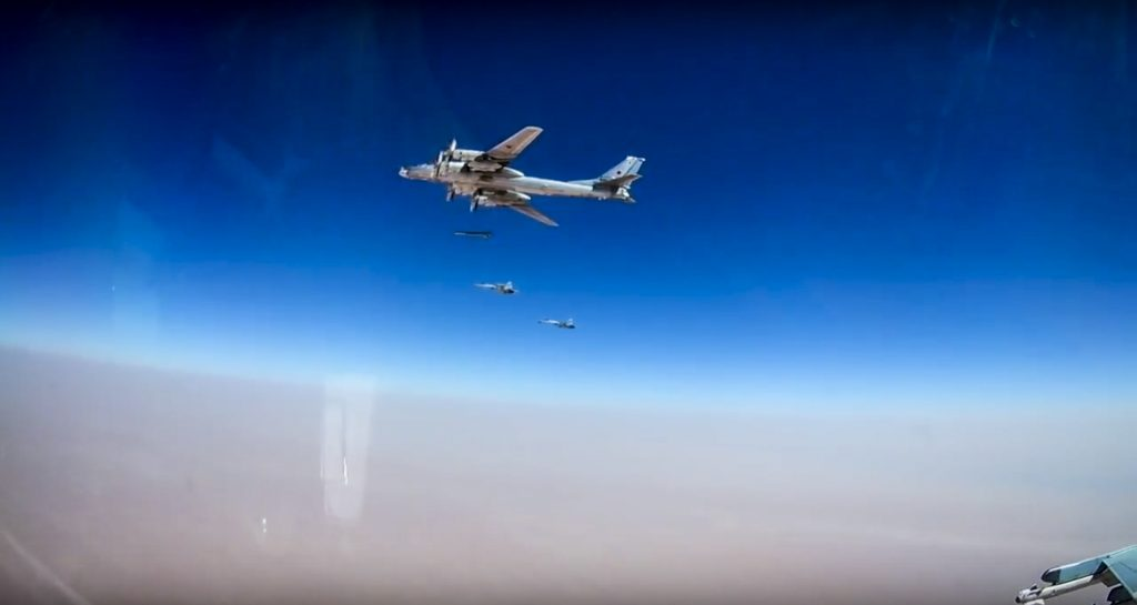 Raw: Russian bombers obliterate ISIS facilities in Syria