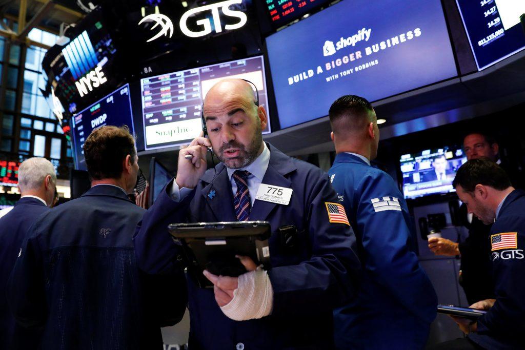 Banks, technology companies lead US stocks lower