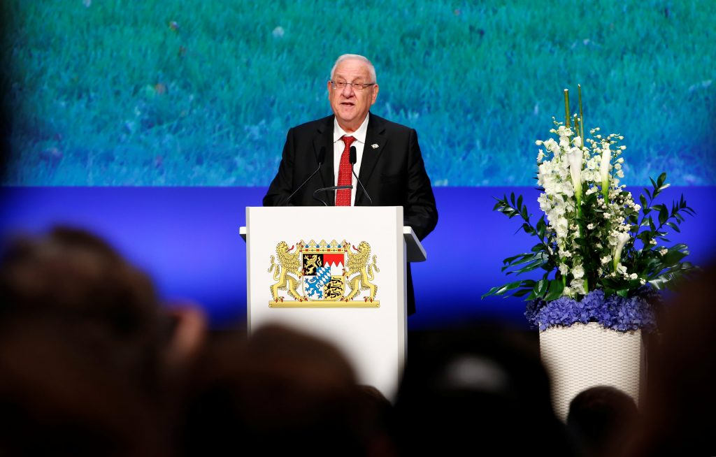 President Rivlin Condemns Abbas for Praising 1972 Munich Olympics Terror Attack