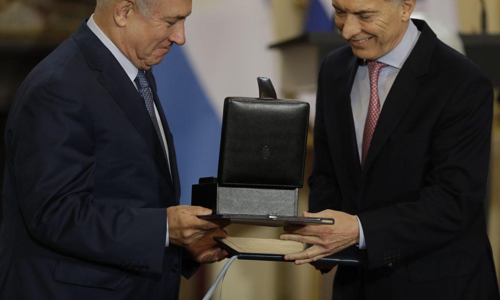 ARGENTINA: Macri And Israel's Netanyahu Agree To Deepen Trade Ties