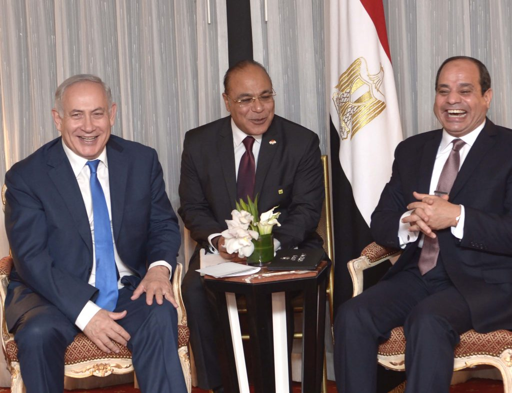Al-Sisi Draws High Marks for Cheerful Meeting with Netanyahu