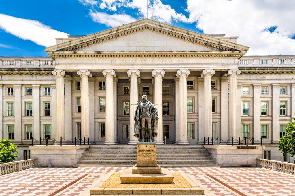 Treasury building, budget deficit, Treasury