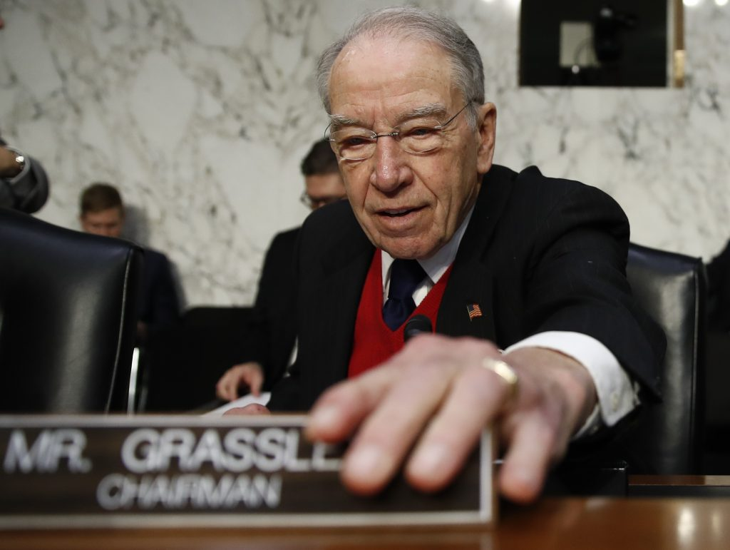 `Spooked' Kushner rejects Senate Russia interview, Grassley says
