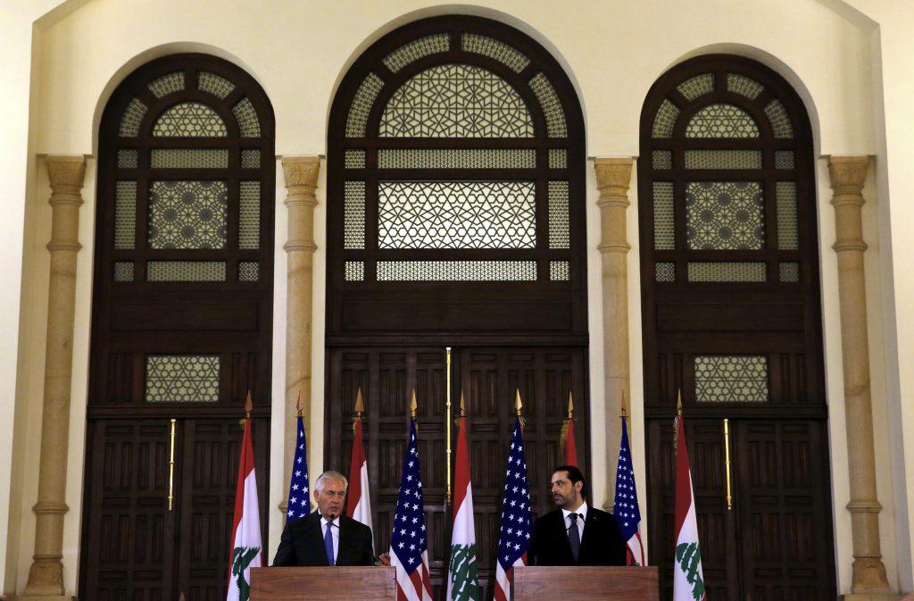 Lebanese officials deny president kept Tillerson waiting