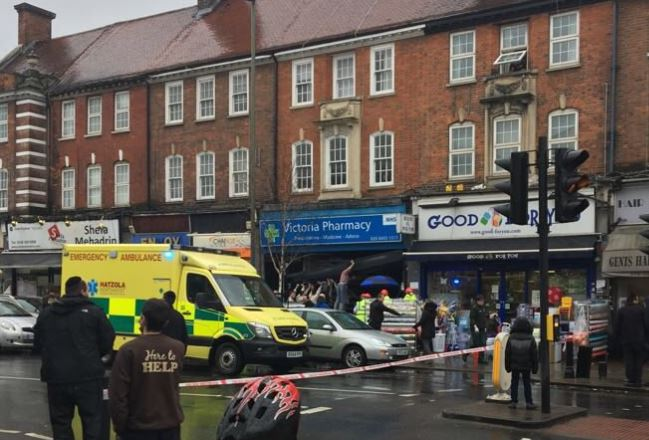 Horrific moment auto ploughs into north London shop causing life-threatening injuries