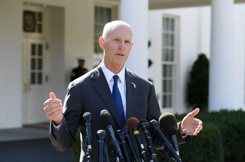 Gov. Rick Scott aims to unseat Democratic Sen. Bill Nelson